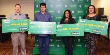 Nota Fiscal Cuiabana entrega prêmios aos sorteados da quarta edição