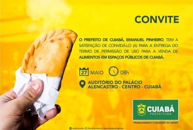 SUGESTÃO DE PAUTA - Prefeito faz entrega de Termos de Permissão de Uso para vendedores de alimentos