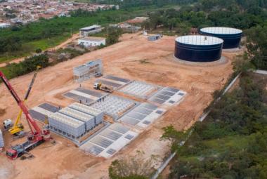 SUGESTÃO DE PAUTA - Prefeito vistoria canteiro de obras da ETA Sul