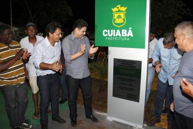 Comunidade do Residencial Marechal Rondon comemora nova praça e melhoria em campo de futebol