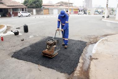 Tapa-buraco passa a integrar conjunto de ações do programa Mutirão da Limpeza