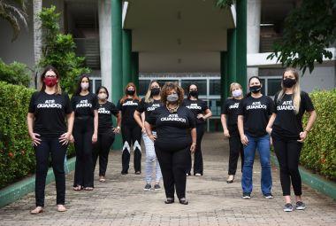 Secretaria da Mulher participa do protesto silencioso contra o assédio sexual