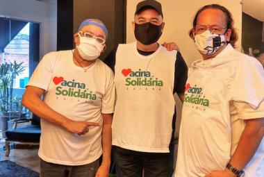 """Colunistas sociais, empresários e apresentadores aderem a campanha """"Vacina Solidária"""""""